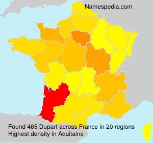 Surname Dupart in France