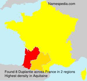 Surname Duplantie in France
