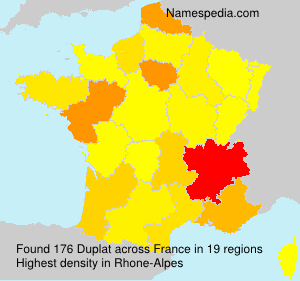 Surname Duplat in France