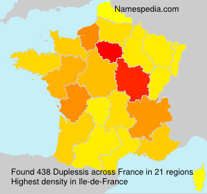 Surname Duplessis in France