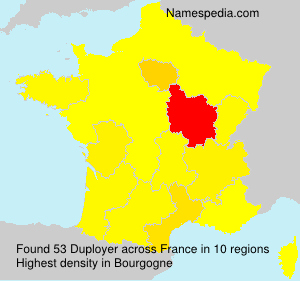 Surname Duployer in France