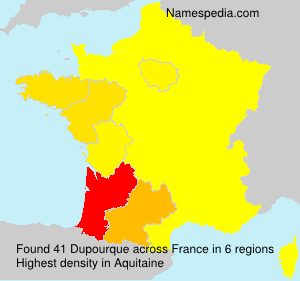 Surname Dupourque in France