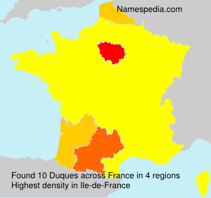 Surname Duques in France