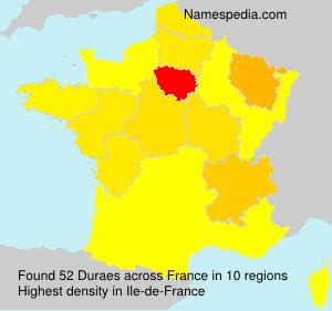 Surname Duraes in France