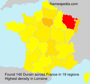 Surname Durain in France