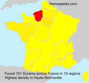 Surname Durame in France