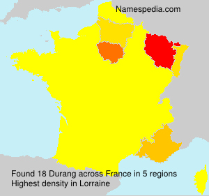 Surname Durang in France