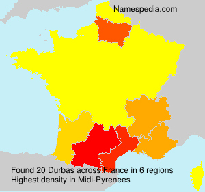 Surname Durbas in France