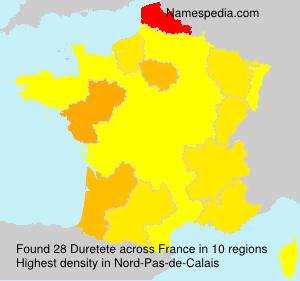 Surname Duretete in France