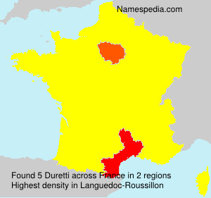 Surname Duretti in France