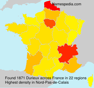 Surname Durieux in France