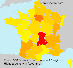 Surname Durin in France