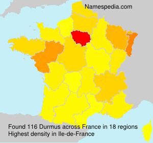 Familiennamen Durmus - France