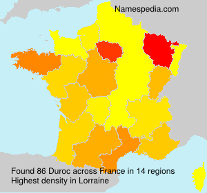 Surname Duroc in France
