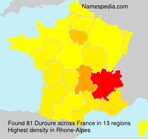 Surname Duroure in France