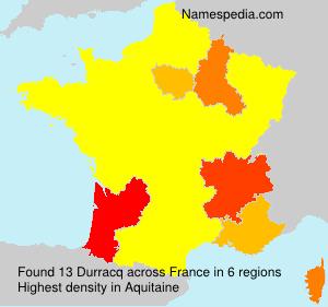 Familiennamen Durracq - France