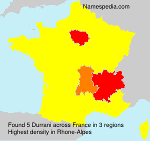 Surname Durrani in France