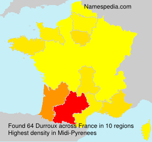 Surname Durroux in France