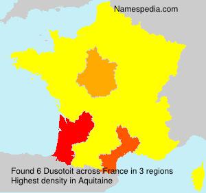 Surname Dusotoit in France