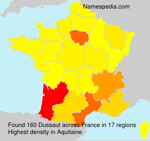 Surname Dussaut in France