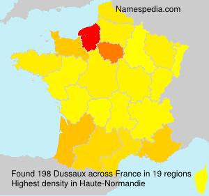 Surname Dussaux in France