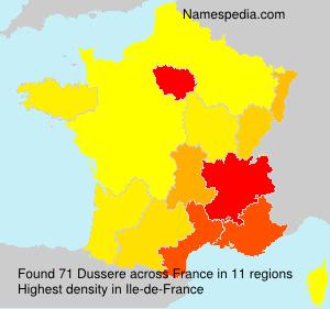 Familiennamen Dussere - France