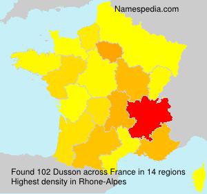 Surname Dusson in France