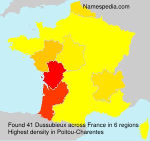 Surname Dussubieux in France