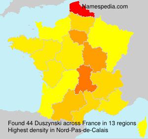 Surname Duszynski in France