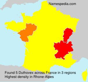 Surname Duthovex in France