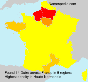 Surname Dutre in France
