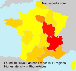 Familiennamen Duvaut - France