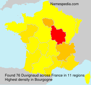 Surname Duvignaud in France