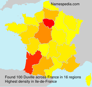 Surname Duville in France