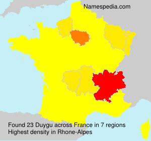 Surname Duygu in France
