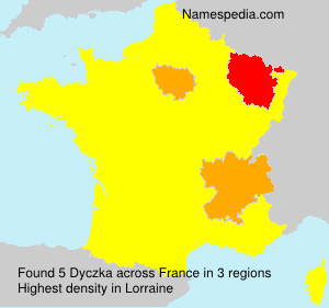 Surname Dyczka in France