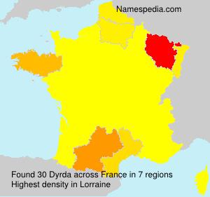 Surname Dyrda in France