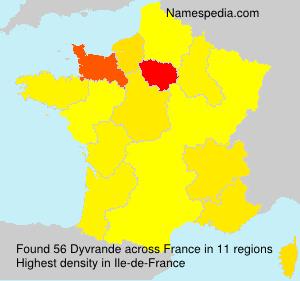 Familiennamen Dyvrande - France