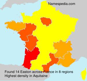 Familiennamen Easton - France