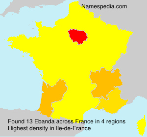 Surname Ebanda in France