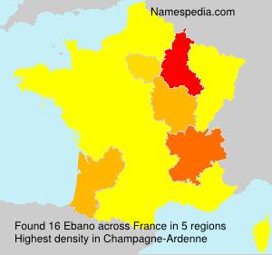 Surname Ebano in France