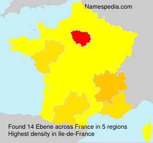 Familiennamen Ebene - France