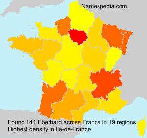 Familiennamen Eberhard - France