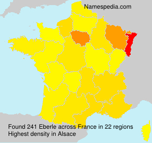 Surname Eberle in France