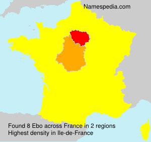 Surname Ebo in France