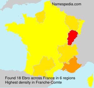 Surname Ebro in France