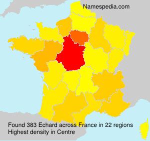 Surname Echard in France