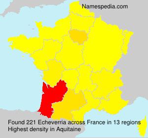 Surname Echeverria in France