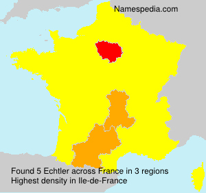 Surname Echtler in France