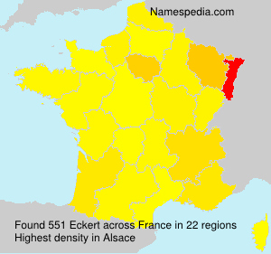 Surname Eckert in France